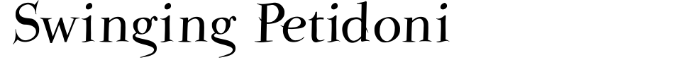 Swinger font