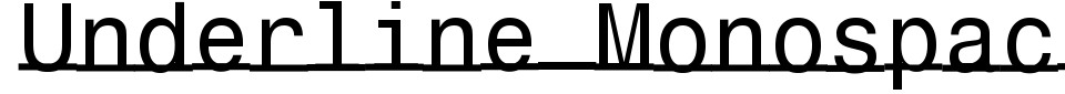 Vista previa - Fuente Underline Monospace