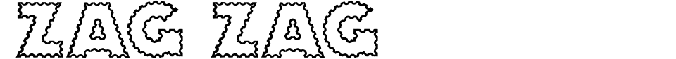 Zag Zag Font Generator Preview