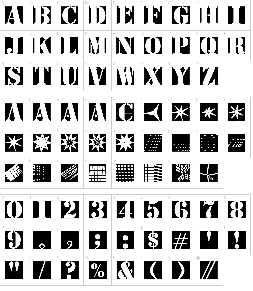 Stencil Bricks Font Download
