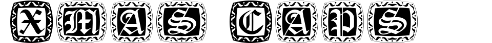 Xmas Caps Font Generator Preview