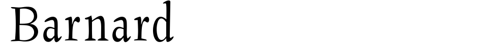 Barnard Font Preview