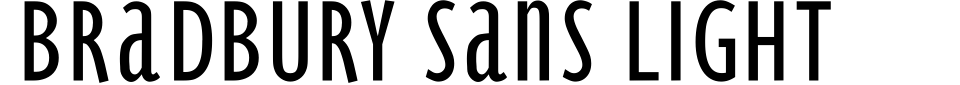 Bradbury Sans Light Font Generator Preview