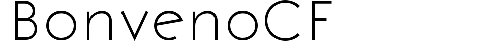 BonvenoCF Font Preview