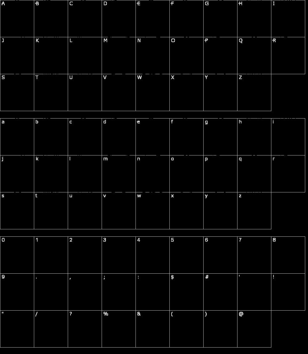 Caratteri del Font - Rockmia