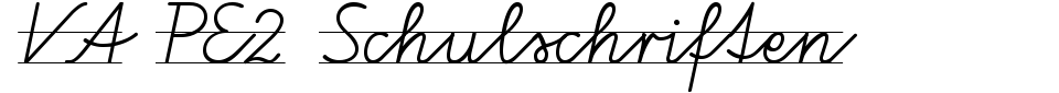 VA PE2 Schulschriften Font Generator Preview