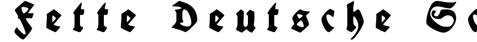 Fette Deutsche Schrift Font Generator Preview