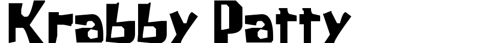 Krabby Patty Font Preview