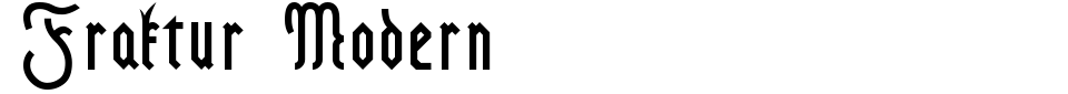 Vorschau der Schriftart - Fraktur Modern