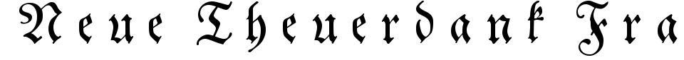 Neue Theuerdank Fraktur Font Generator Preview