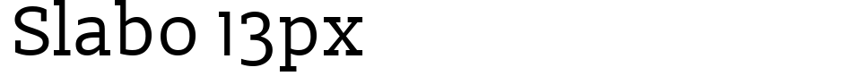 Slabo 13px Font Generator Preview