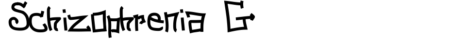 Vorschau der Schriftart - Schizophrenia G