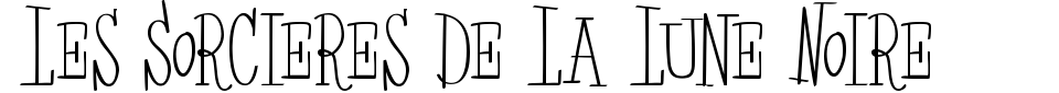 Vorschau der Schriftart - Les Sorcieres De La Lune Noire