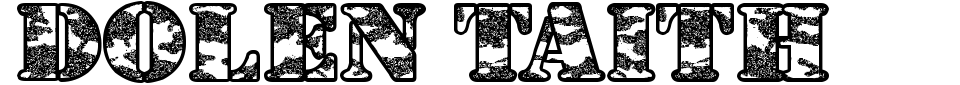 Vorschau der Schriftart - Dolen Taith