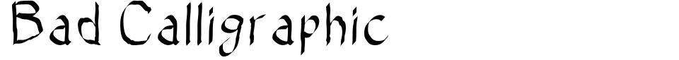 Anteprima - Font Bad Calligraphic