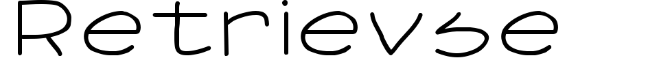 Retrievse Font Generator Preview