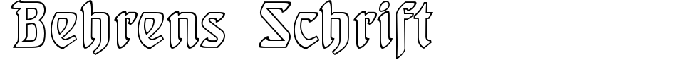 Vorschau der Schriftart - Behrens-Schrift