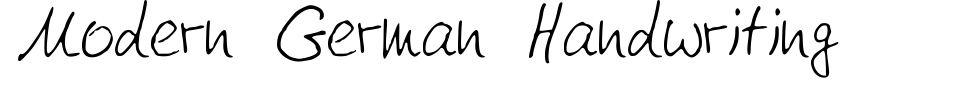 フォントプレビュー:Modern German Handwriting