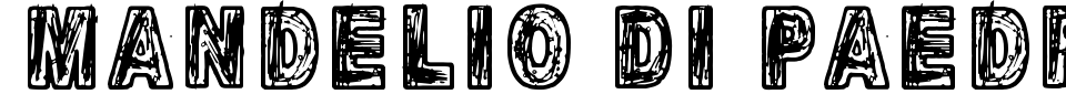 Mandelio Di Paedre Font Preview