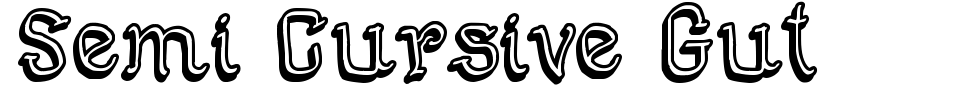 Visualização - Fonte Semi Cursive Gut