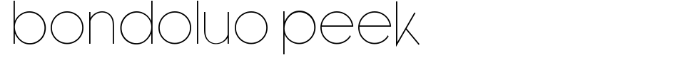Vista previa - Fuente Bondoluo Peek