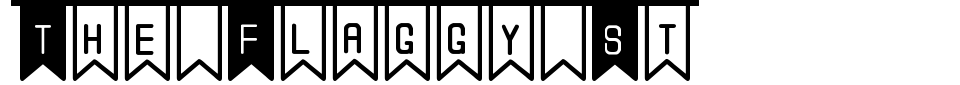 Vorschau der Schriftart - The Flaggy St