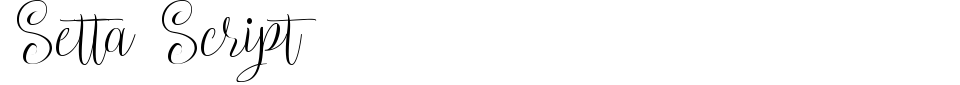 Setta Script Font Preview