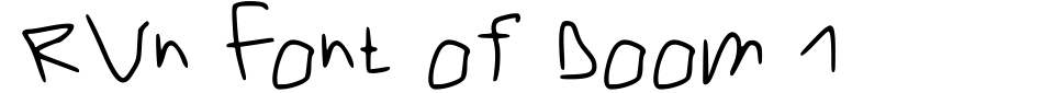 RVn Font of Doom 1 Font Preview