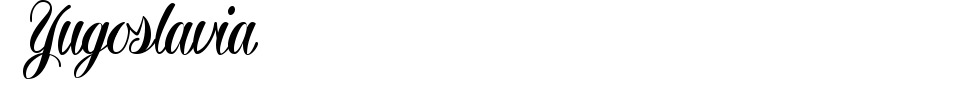 Yugoslavia Font Preview