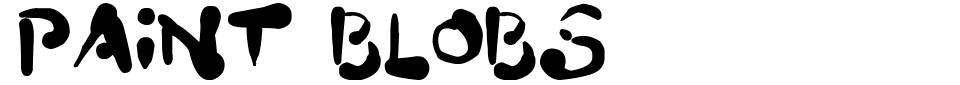 Vista previa - Fuente Paint Blobs