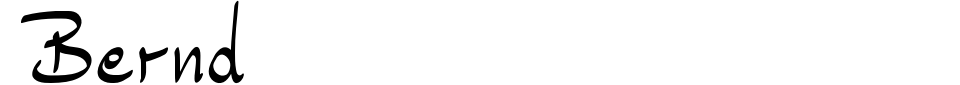 Vorschau der Schriftart - Bernd
