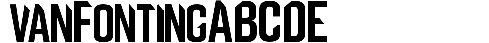 VanFonting Font Preview