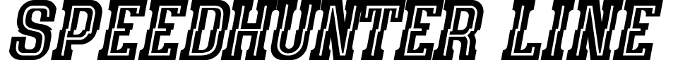 Vista previa - Fuente Speedhunter Line