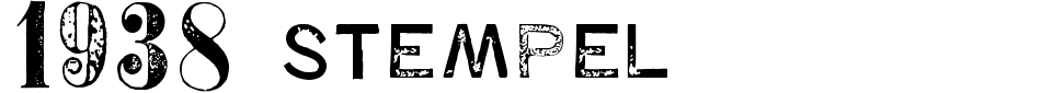 Vorschau der Schriftart - 1938 Stempel