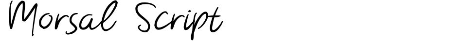 Morsal Script Font Generator Preview
