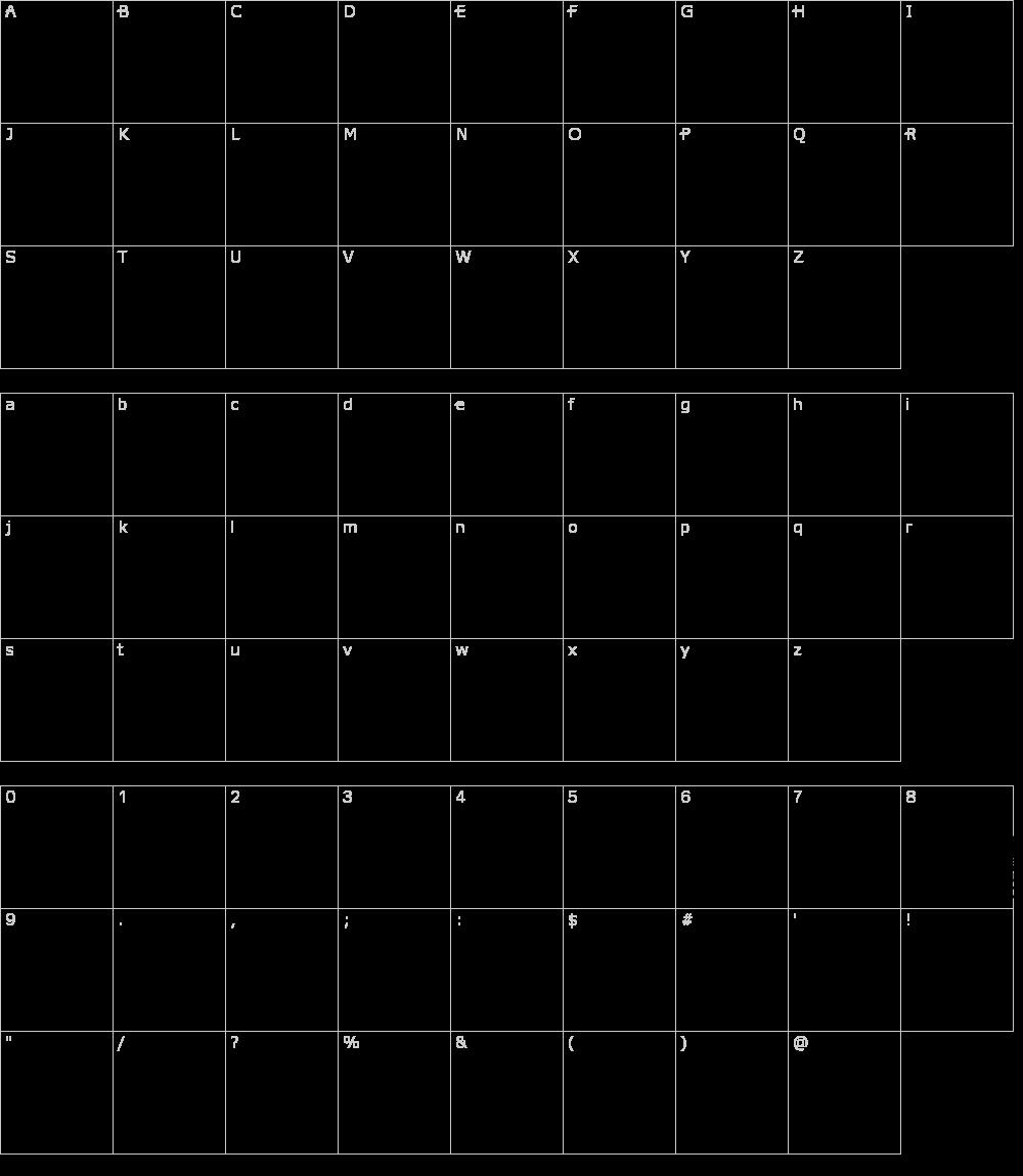 Caratteri del Font - Cocosignum Maiuscoletto