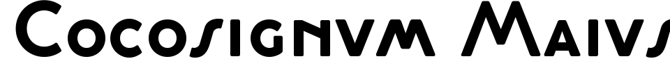 Cocosignum Maiuscoletto Font Preview