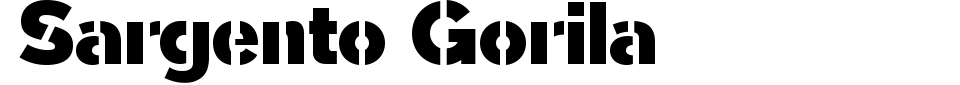Sargento Gorila Font Generator Preview