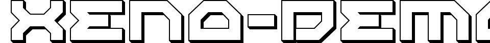 Xeno-Demon Font Preview