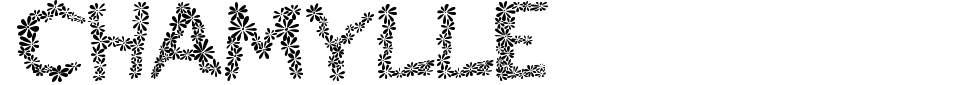 字体预览:Chamylle