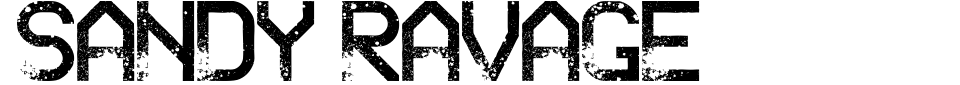 Anteprima - Font Sandy Ravage