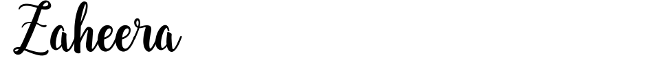 Zaheera Font Preview