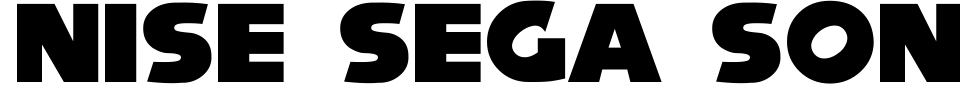 Anteprima - Font Nise Sega Sonic