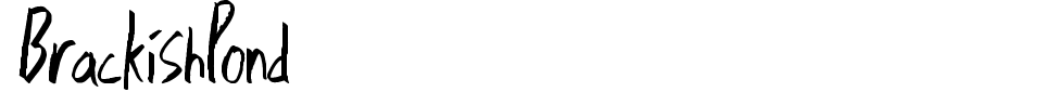 BrackishPond Font Preview