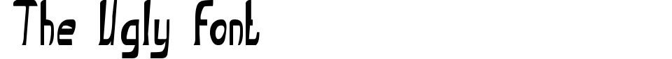 Anteprima - Font The Ugly font