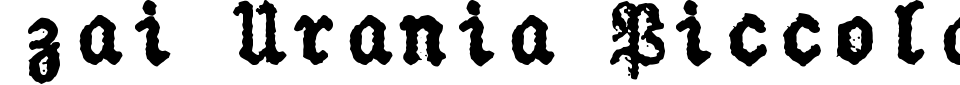 Vorschau der Schriftart - zai Urania Piccola Typewriter