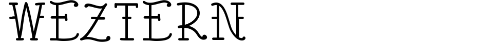 Vista previa - Fuente Weztern