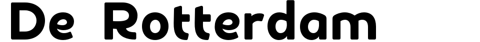 Vorschau der Schriftart - De Rotterdam