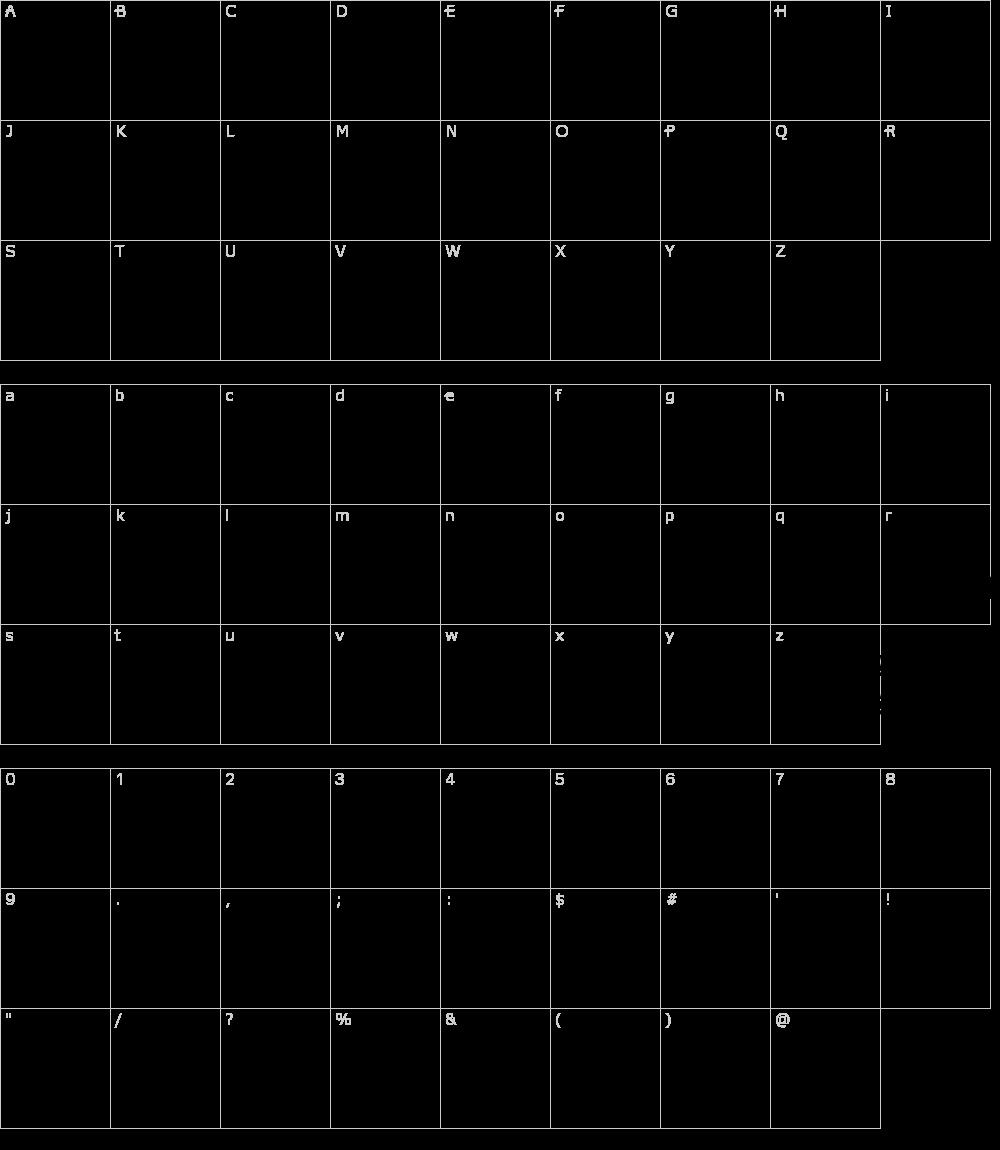 Caratteri del Font - College Collage