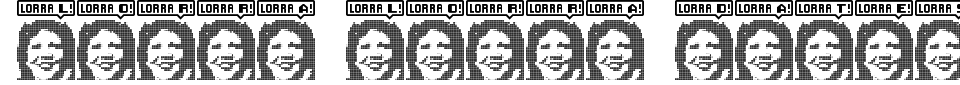 Visualização - Fonte Lorra Lorra Dates!